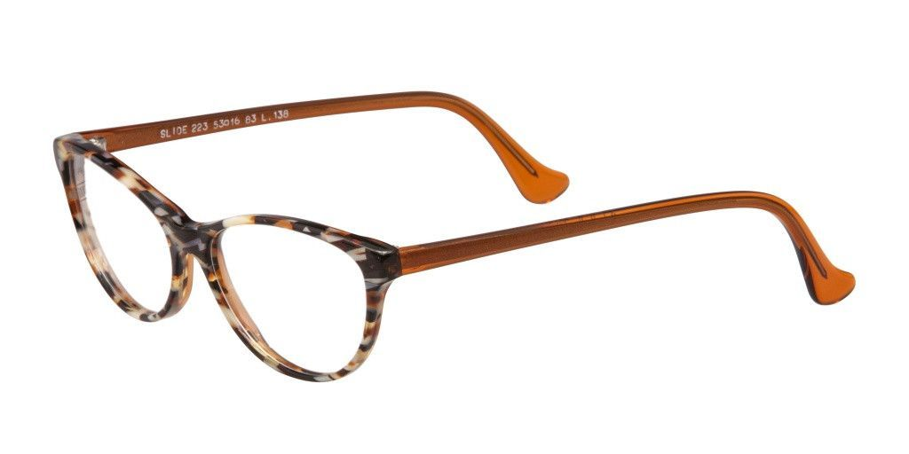 SLIDE MADE IN FRANCE Tortoise and Copper Acetate Eyeglass Frame Cais ...