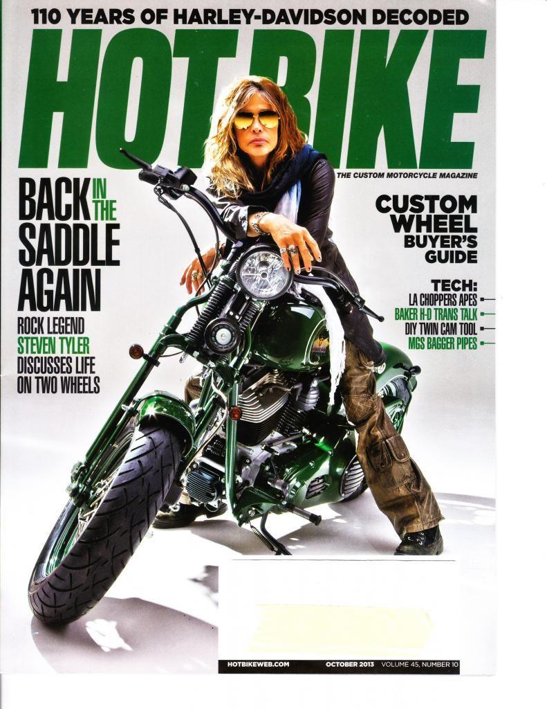 Steven Tyler On The Cover Of Hot Bike Magazine Bike Magazine