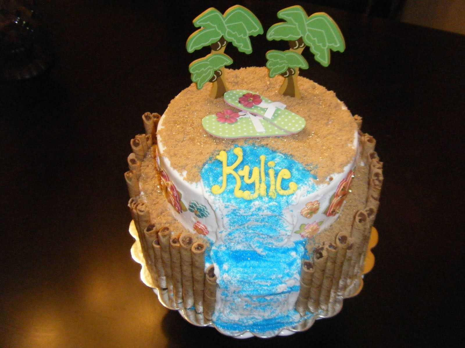luau cake ideas for kids   Pin Cherish Cakes Hawaiian Luau Cake Cake on Pinterest