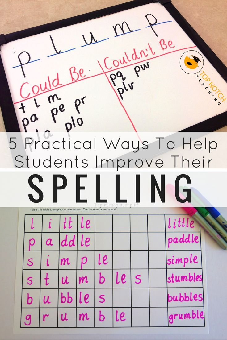 5 Practical Ways To Help Students Improve Their Spelling ...