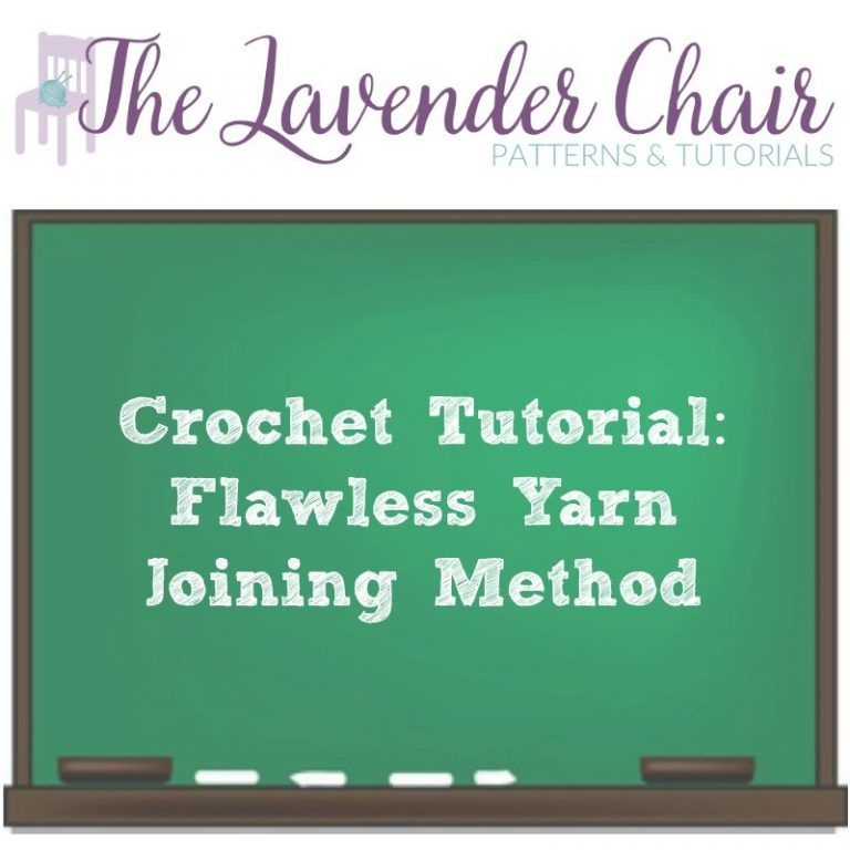 Flawless yarn joining method the lavender chair the