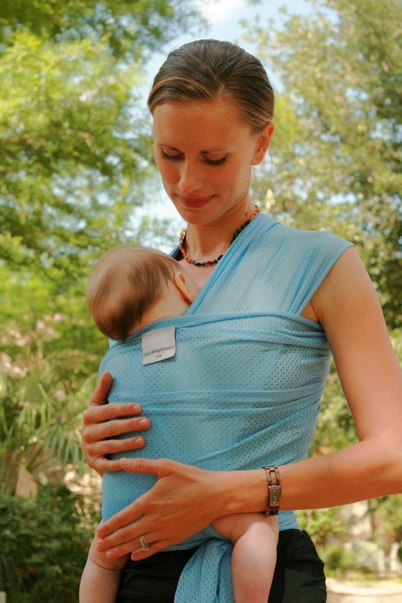 Beachfront Baby Wrap Carrier- water babywearing at the beach, pool, water park or in the shower- SKY BLUE on Etsy, $39.99
