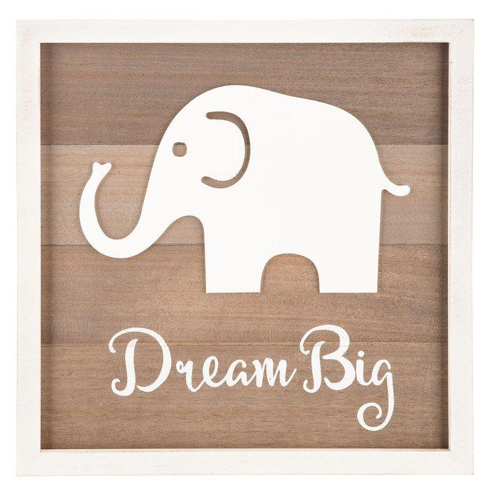 Dream Big Elephant Wood Wall Decor Wood Wall Decor Biggest Elephant Wood Wall