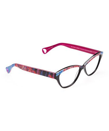 7121824e03c Look at this  zulilyfind! Raven Horn-Rimmed Eyeglasses by Betsey ...