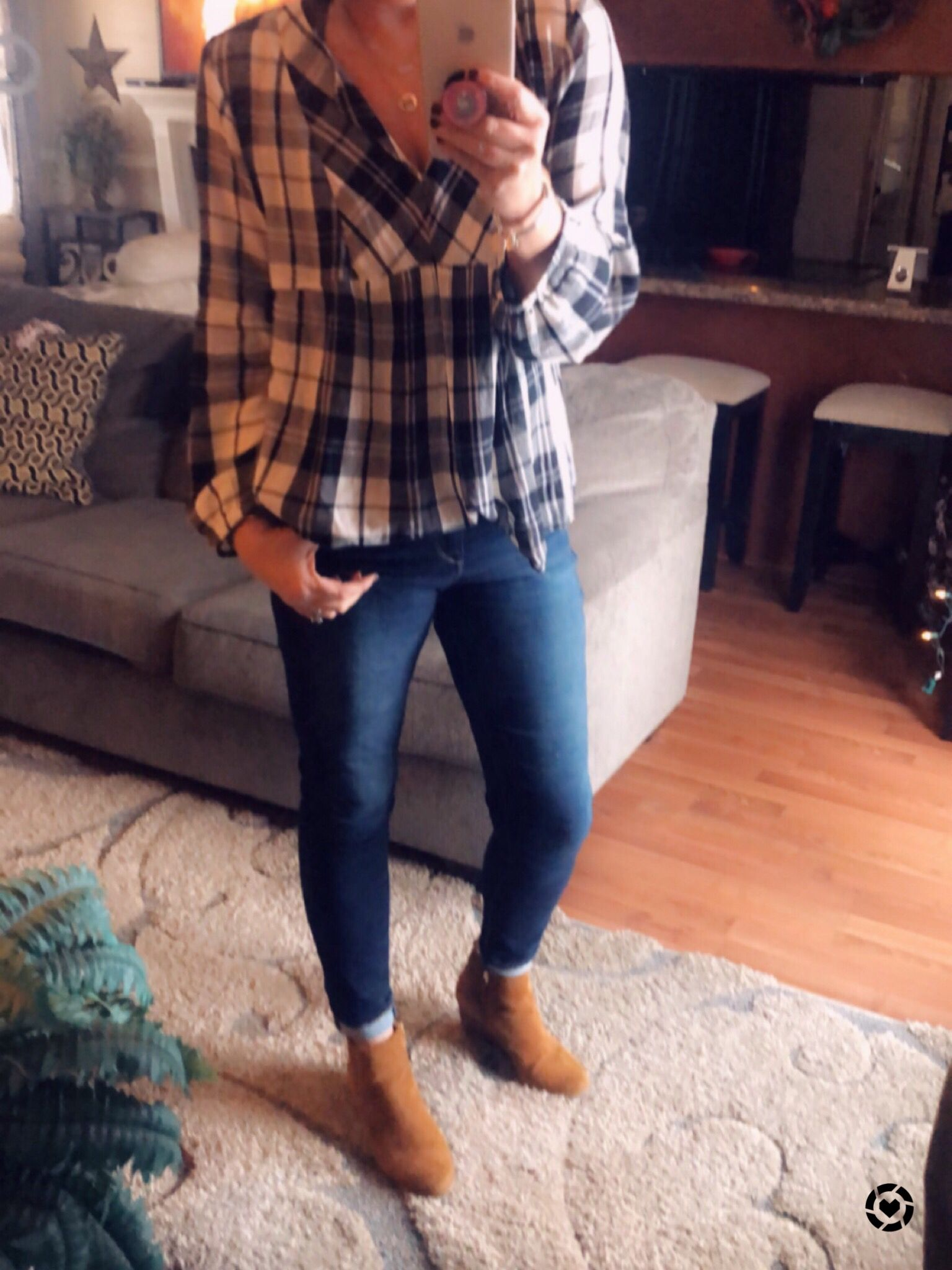 d06af18c64e Loving this casual weekend look. Levi skinny jeans plus the cognac booties  are one of my favorites!! Follow me on the LIKEtoKNOW.it app to get the  product ...