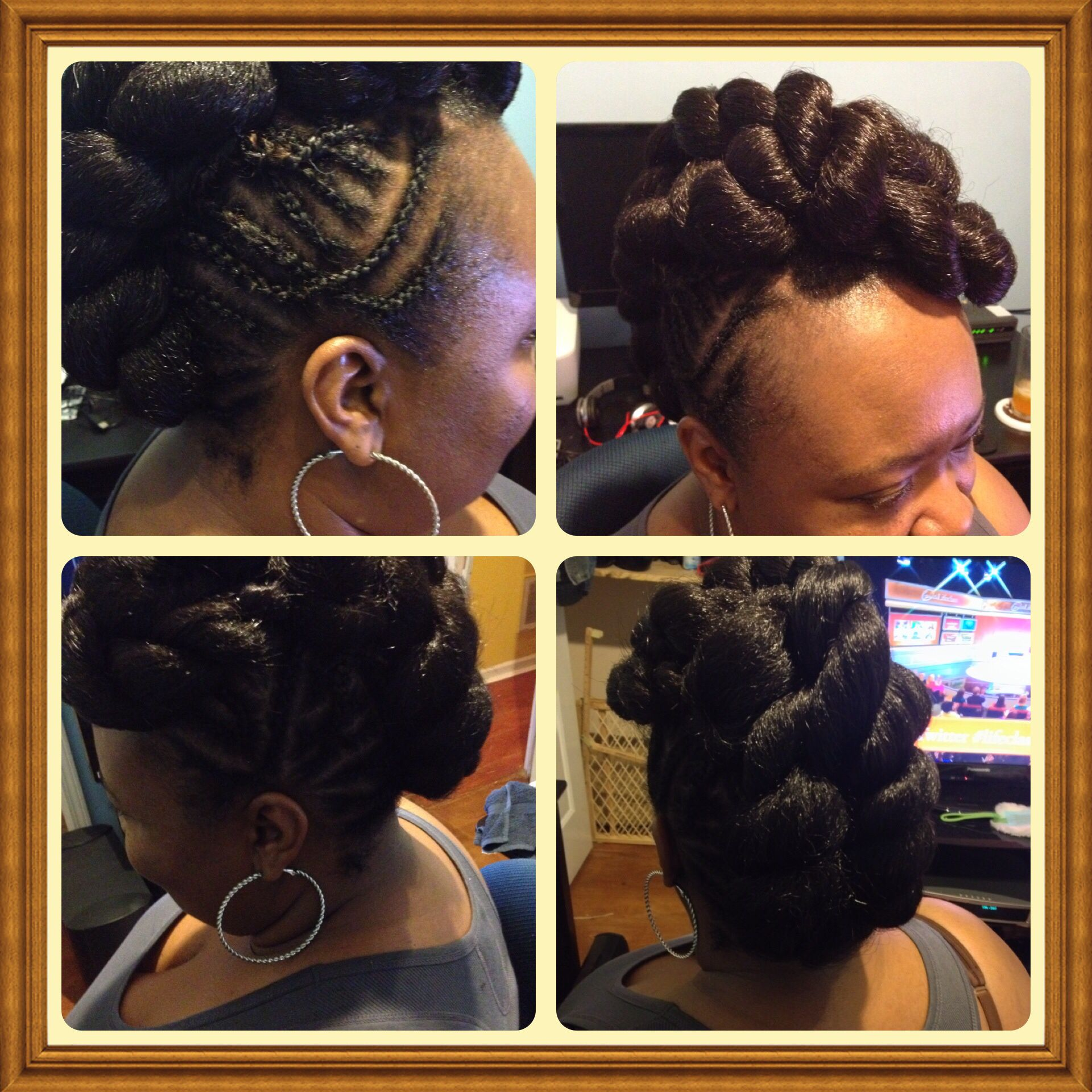 Braided mohawk protective style hair love pinterest braided