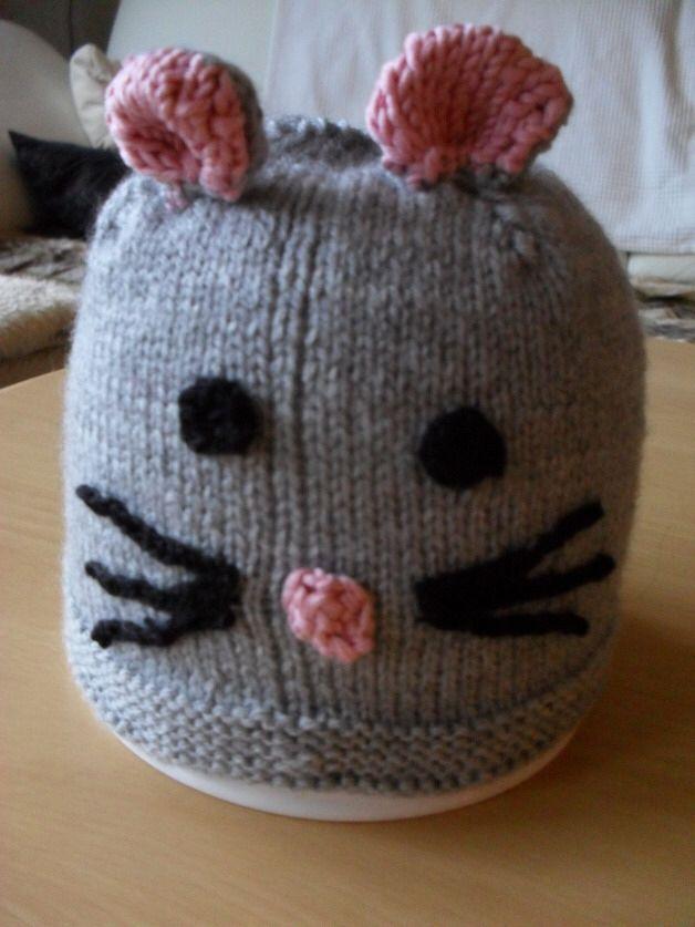 Maus Mütze Häkeltiere Pinterest Mütze Mütze Stricken Und