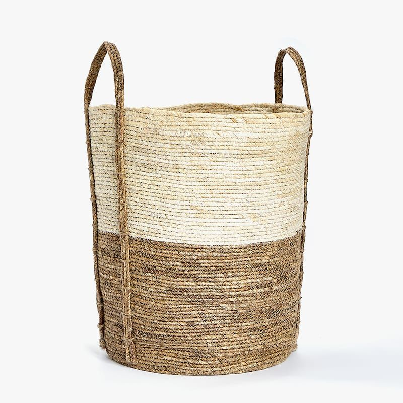 Round Basket With Handles Baskets Bathroom Zara Home Serbia Zara Home Zara Home Decor Round Basket