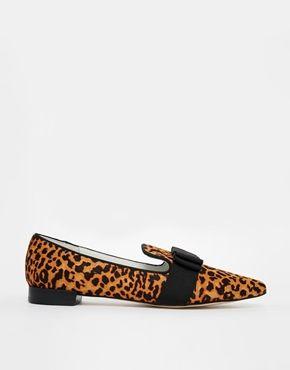 Senso Freja IV Leopard Print Flat Pointed Shoes