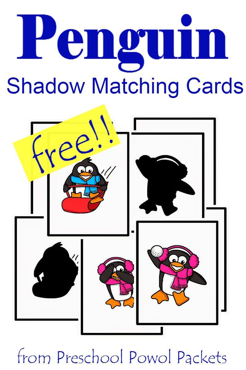 Free Penguin Preschool Shadow Matching Cards Preschool Shadows Preschool Penguin Activities Polar Animals Preschool [ 1200 x 800 Pixel ]