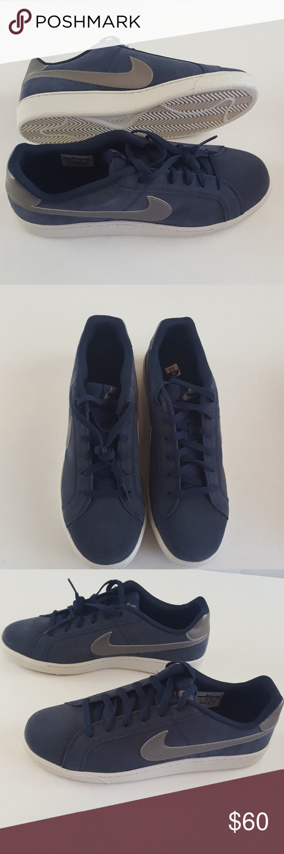 Percibir Irradiar Resonar  Mens Nike Court Royale Suede Blue Shoes 819802403 | Blue shoes, Nike men,  Fashion design