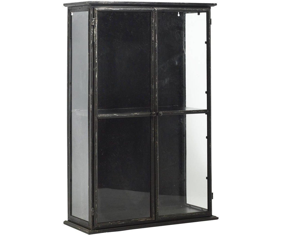 Metal Glass Display Cabinet Nordal Vgskab Downtown Iron Wall Cabinet Black 6131 Bolig