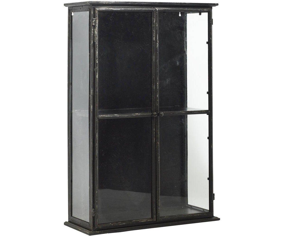 Shop Wall Cabinets Nordal Vgskab Downtown Iron Wall Cabinet Black 6131 Bolig