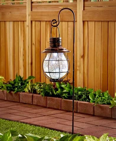 solar shepherds hook landscape lighting
