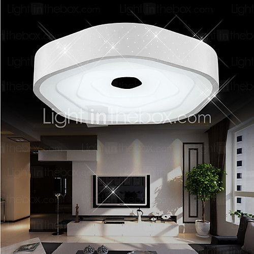 Flush Mount  Moderncomtemporary Electroplated Svojstvo For Led Mesmerizing Dining Room Flush Mount Lighting Decorating Design
