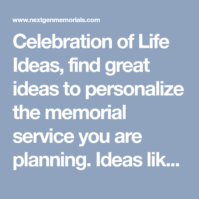 Celebration of Life Ideas find great ideas to personalize the memorial service you are planning. Ideas like candle lighting ceremony dove releases ...  sc 1 st  Pinterest & Celebration of Life Ideas find great ideas to personalize the ...