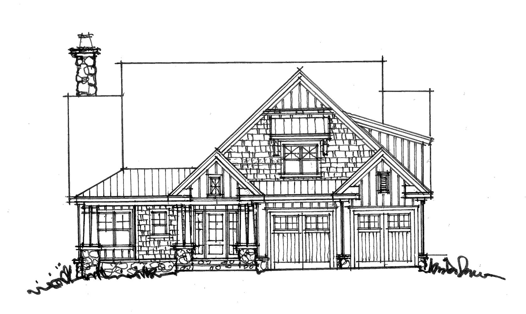 CONCEPTUAL HOUSE PLAN 1459 TWOSTORY CRAFTSMAN – Family Friendly House Plans