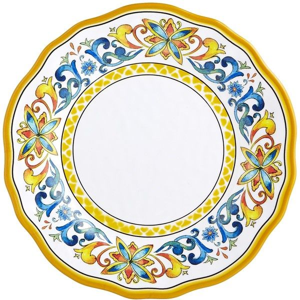 Pier 1 Imports Yellow Cortona Melamine Dinner Plate ($7.95) ❤ liked on Polyvore featuring  sc 1 st  Pinterest & Pier 1 Imports Yellow Cortona Melamine Dinner Plate ($7.95) ❤ liked ...
