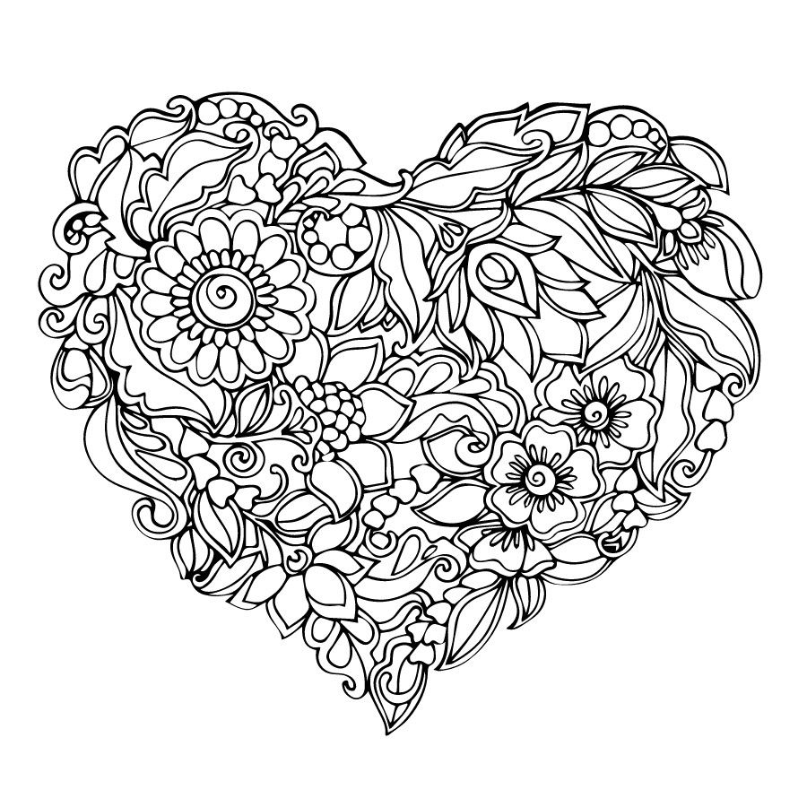 Heart Coloring Pages Heart Coloring Pages Coloring Pages For