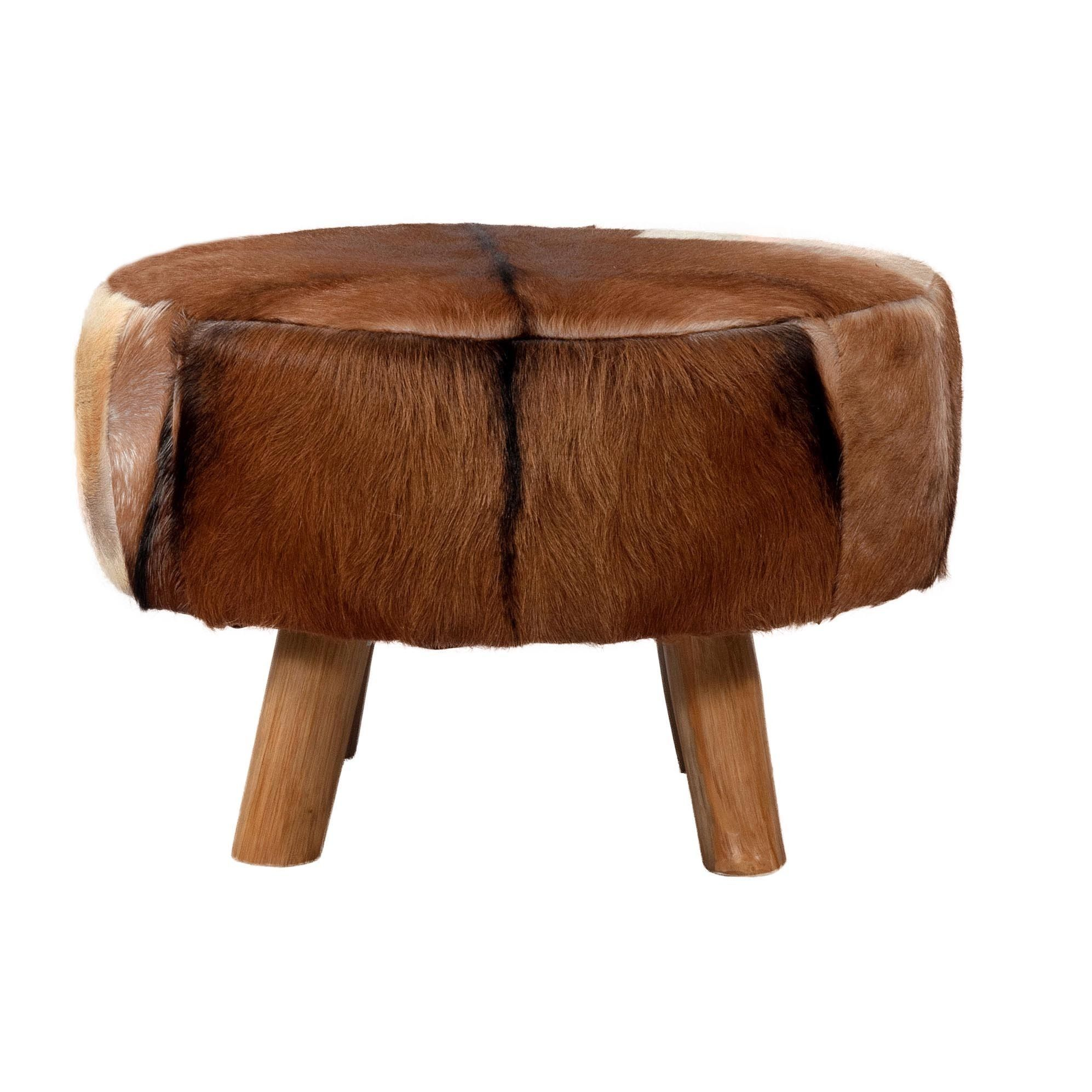 Pleasing Jeffan Safari Round Ottoman Small Brown Tan Beige Size Spiritservingveterans Wood Chair Design Ideas Spiritservingveteransorg