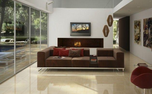 wohnzimmer fliesen creme farbe bodenbelag | Flat-in | Pinterest ...