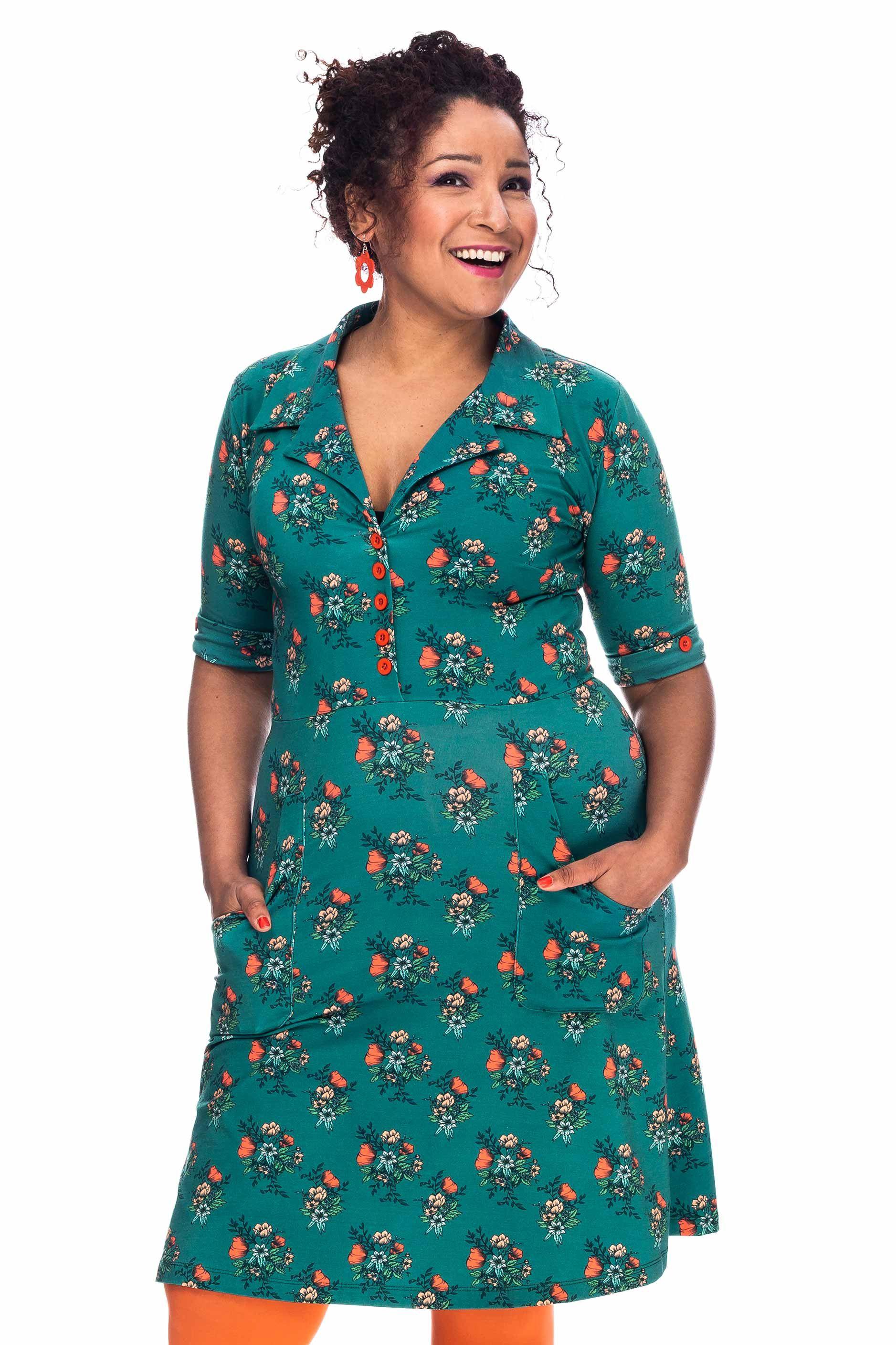 Monica klänning bukett