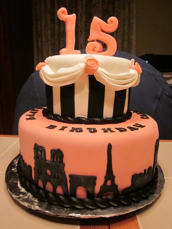 What  Year Old Girl Wouldnt Love This Cake Live For Today - 15 year birthday cake