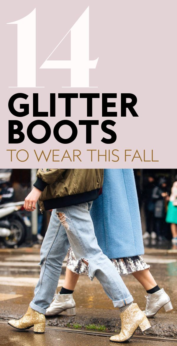 ad029387e6dd Shop This Fall's Major Shoe Trend: Glitter Boots | Shop InStyle ...