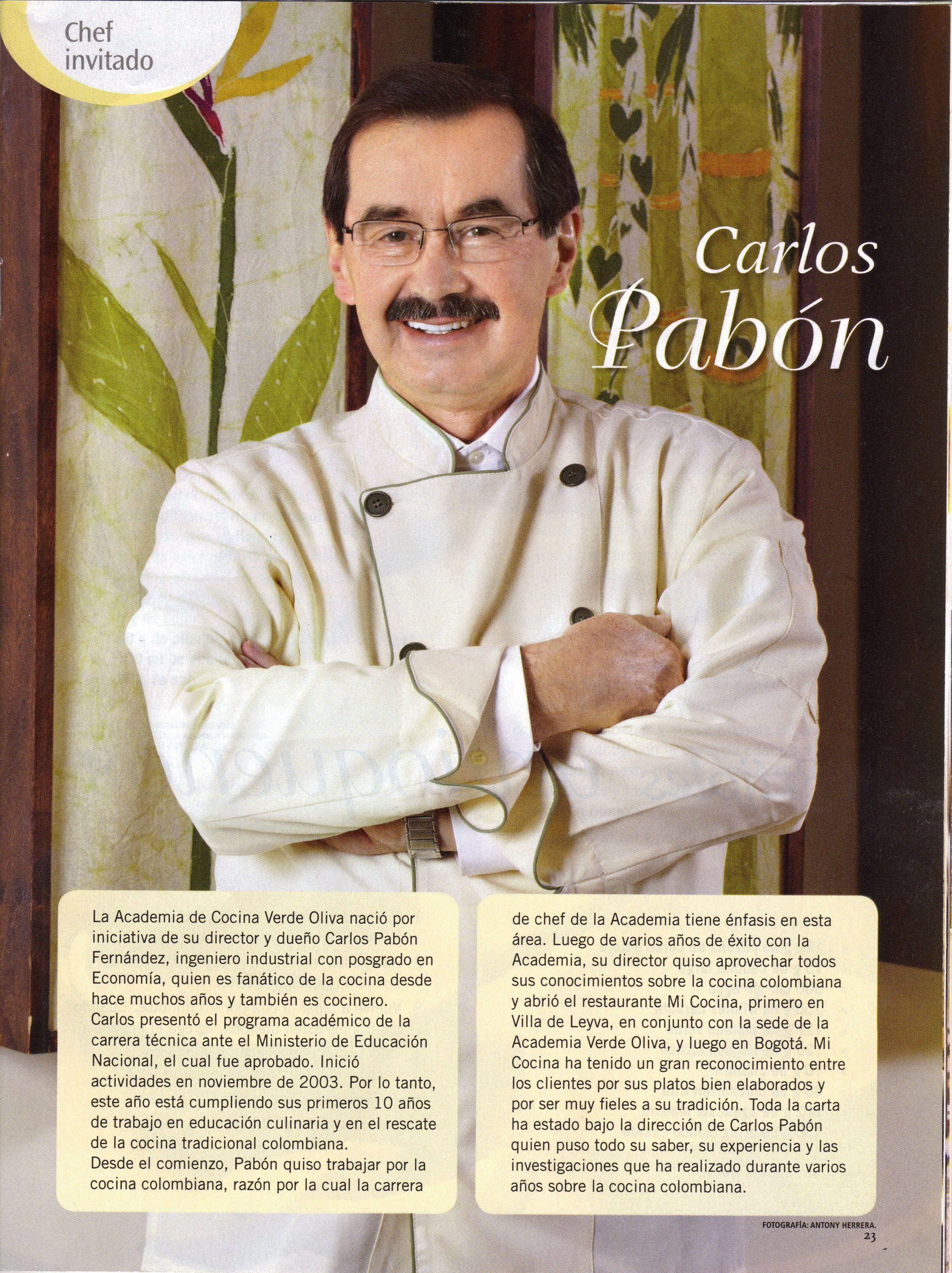 Carlos Pabon Director Academia Verde Oliva Con Imagenes Cocina