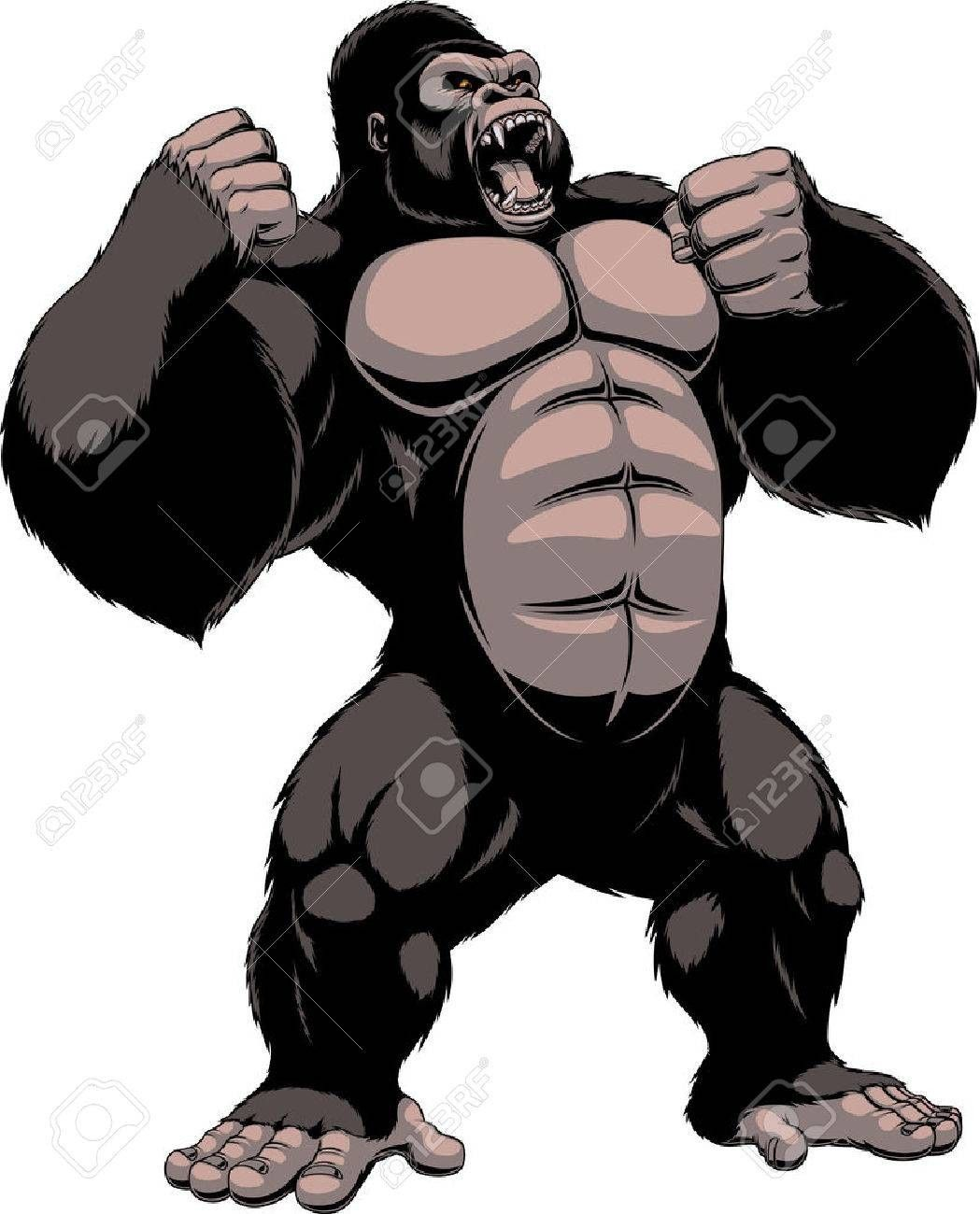 King Kong Gorilla Illustration Gorillas Art Creature Drawings