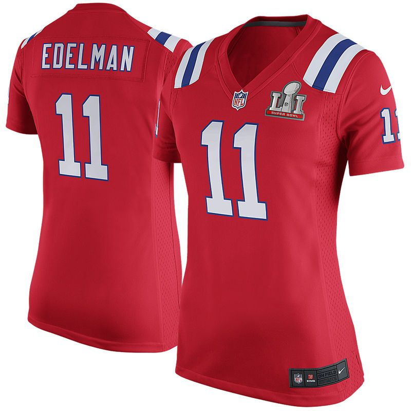 Julian Edelman New England Patriots Nike Women s Super Bowl LI Bound Game  Jersey - Red 788f2e1004d22