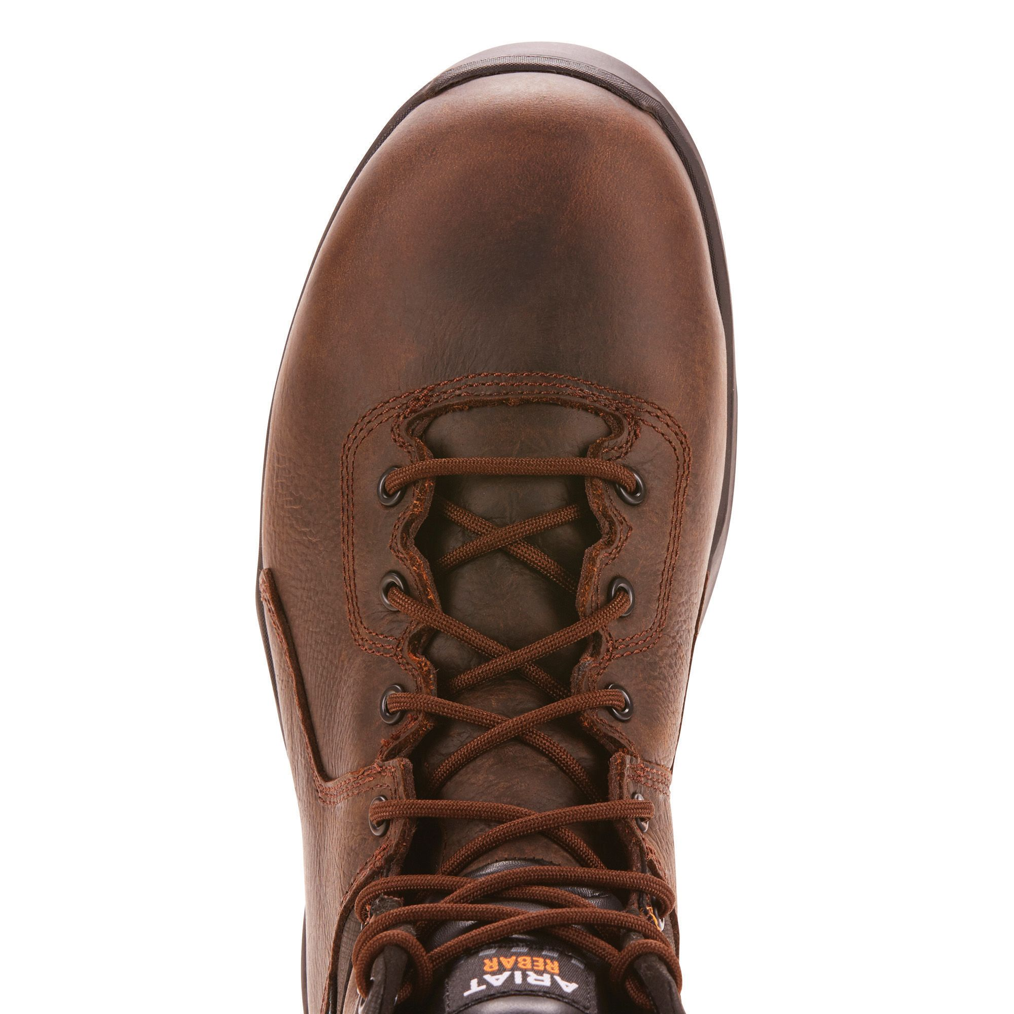 Rebar Flex Protect 6 Waterproof Carbon Toe Work Boot Dark Brown Leather Brown Leather Boots