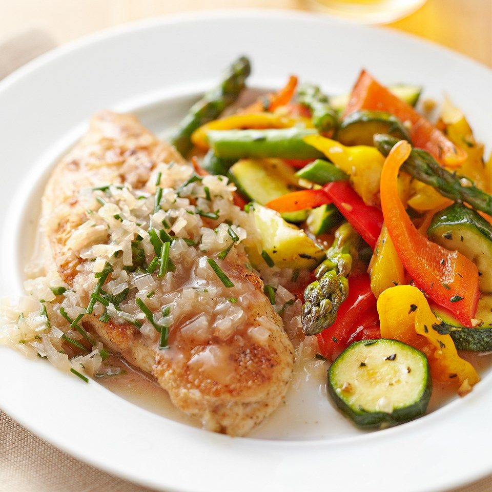 Sauteed Chicken Breasts With Simple Chive Sauce Recipe 30 Minute Meals Healthy Healthy Recipes