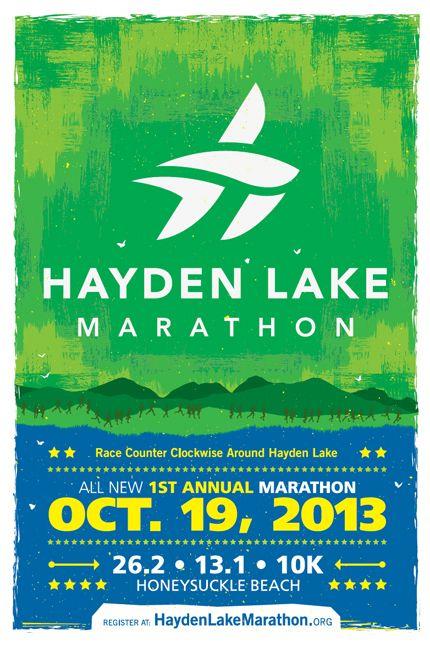 Marathon Poster Design Hayden lake marathon poster | Run ...