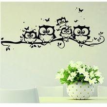 סופר דיל cartoon מדבקות קיר אמנות diy ילדי מדבקת ילדים ויניל אמנות קריקטורה ינשוף פרפר וול דקור מדבקת בית מדבקות xt(China (Mainland))