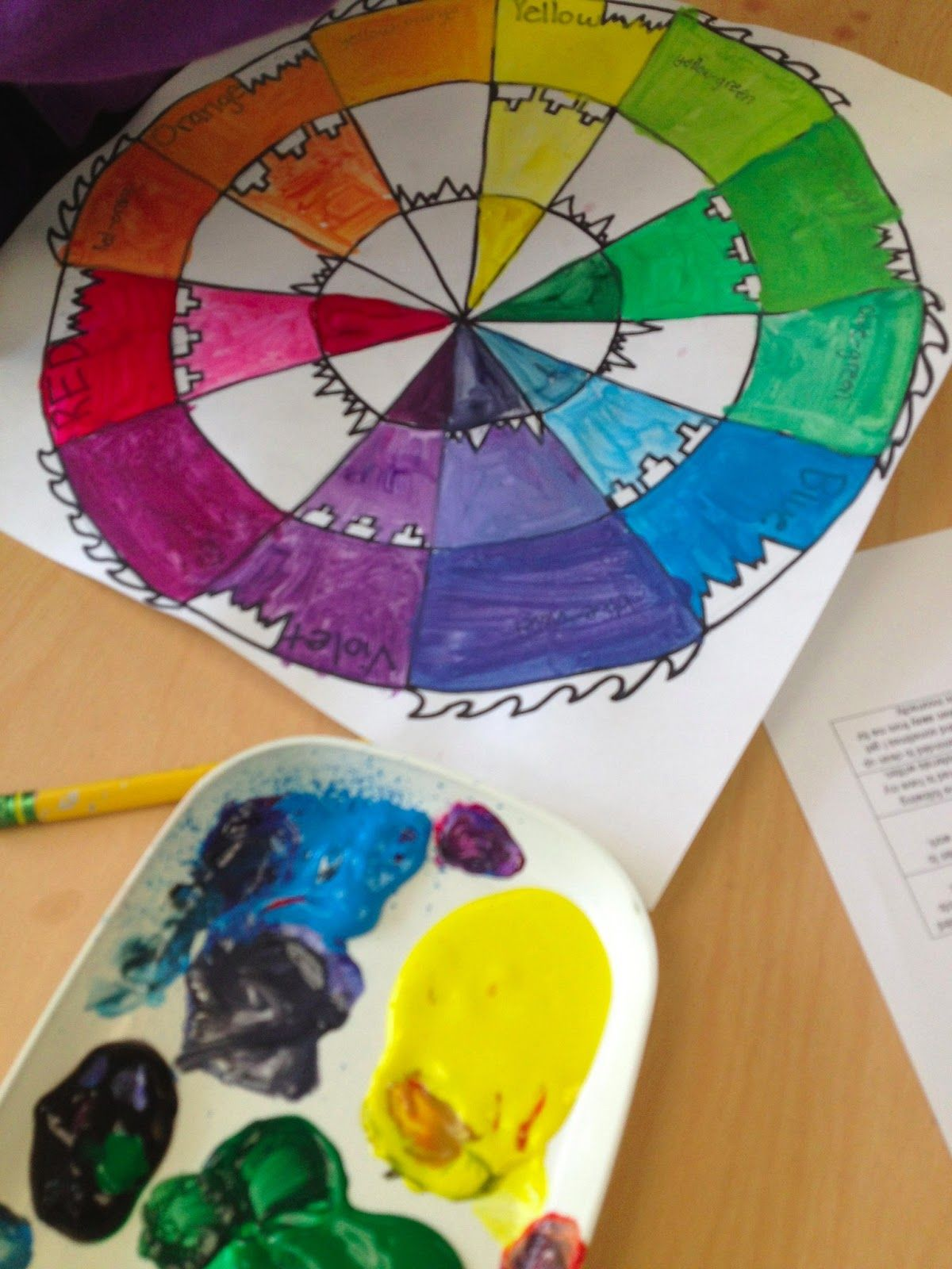 Color Wheel 12 Colors Plus Tints And Shades
