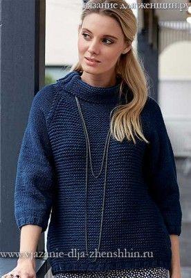 Вязание спицами для женщин модные модели джемпер 91