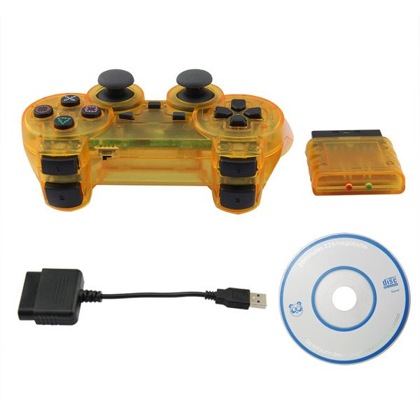 PS2/PS3/PC 3 in 1 Wireless Controller- Crystal Yellow | PS3