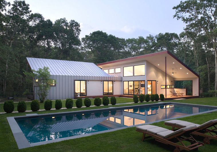 Modern residential architecture draws on a wide variety of ...