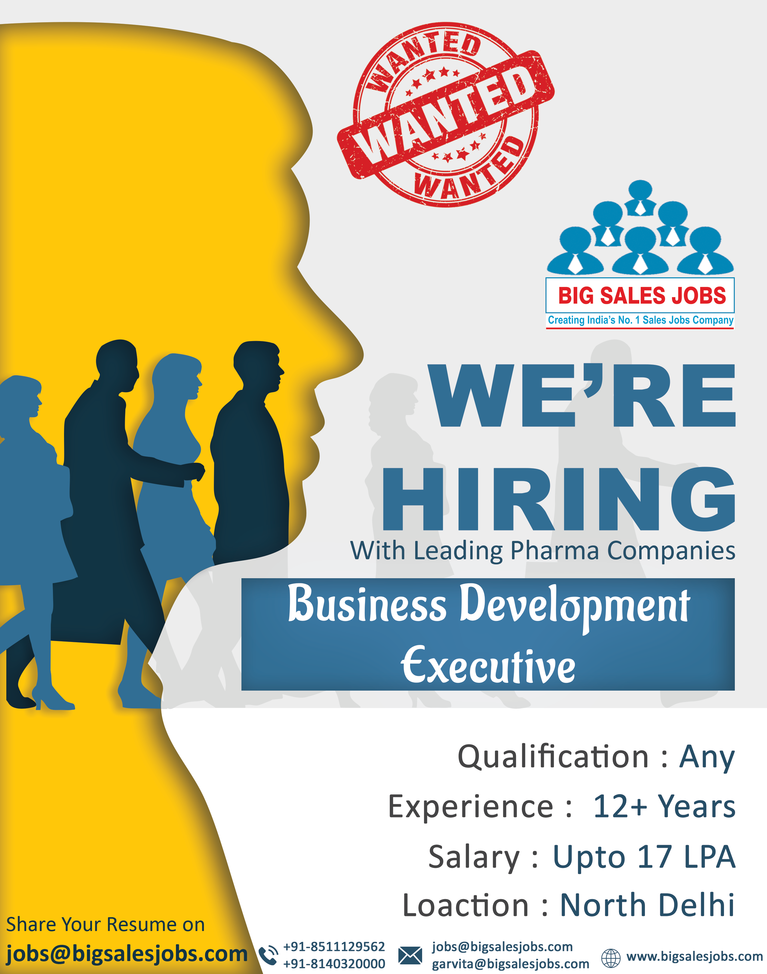 Sales Opening For Key Business Development Executive Qualification