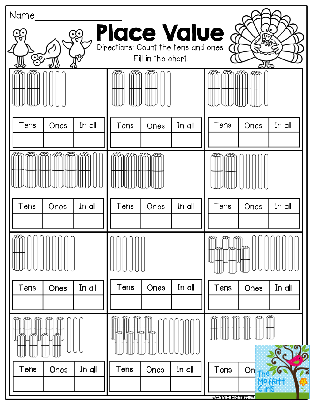 November No Prep Math And Literacy Packet 1st Grade