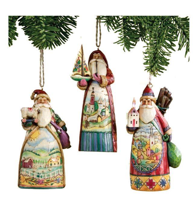 Santa With Scene Ornament Set Jim Shore Monstermarketplace Com Jim Shore Christmas Ornament Set Santa
