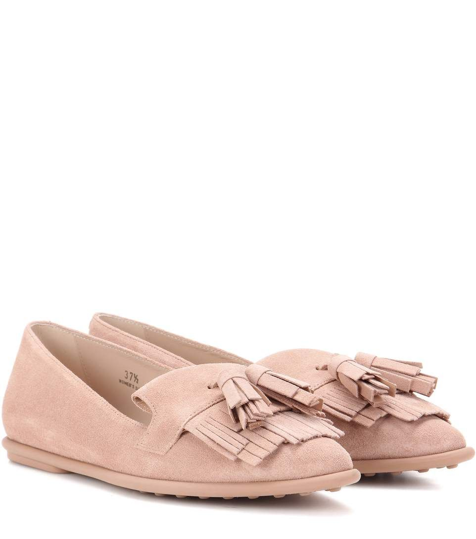 Pink satin moccasins Tod's ZrLSoh2E5Y