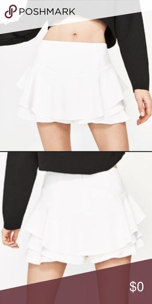 Iso Zara Ruffle Skort Clothes Design Zara Fashion