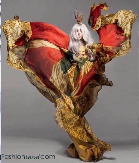 Lady Gaga in an Alexander McQueen kimono, Summer 2011