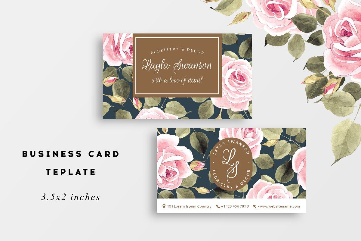 Roses Business Card Business Cards Wedding Cards Business Card Design