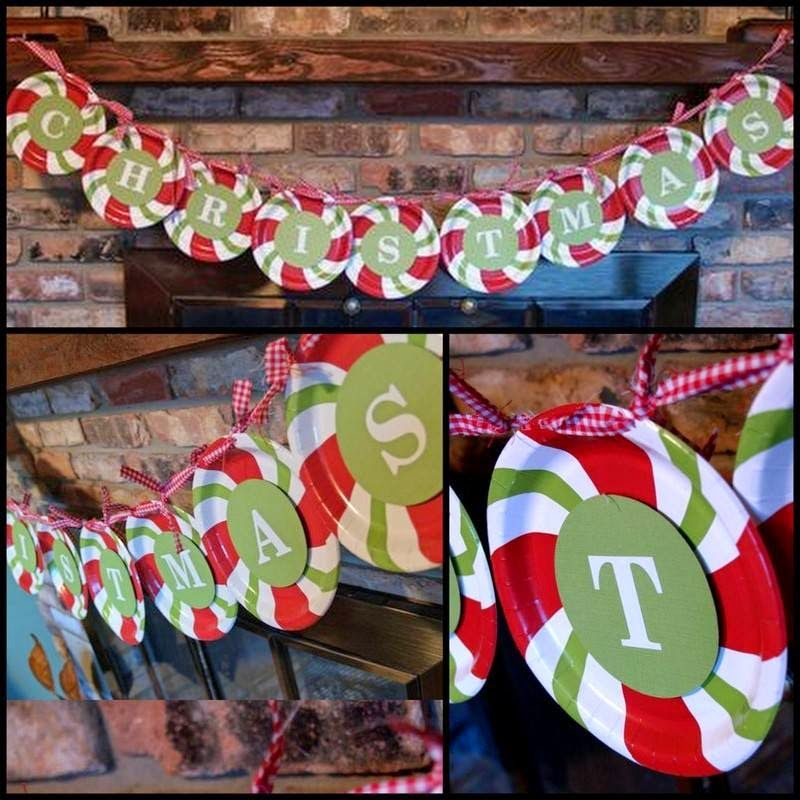 Most Popular Christmas Decorations On Pinterest To Pin: Turn Dollar Store Paper Plates Into This Cute Candy Cane