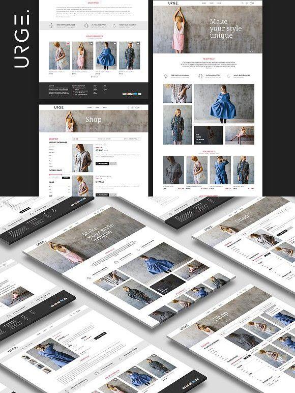 URGE Shop PSD Psd, Website design, Home login