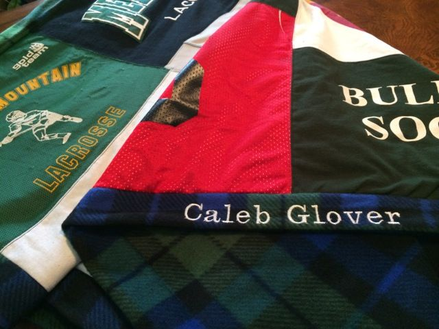 Popular plaid fleece called Black Watch Plaid for many of our t-shirt quilts.   www.TshirtQuiltCafe.com