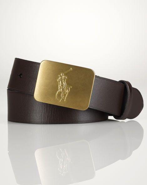 Big Pony–Buckle Leather Belt - Boys Accessories - RalphLauren.com